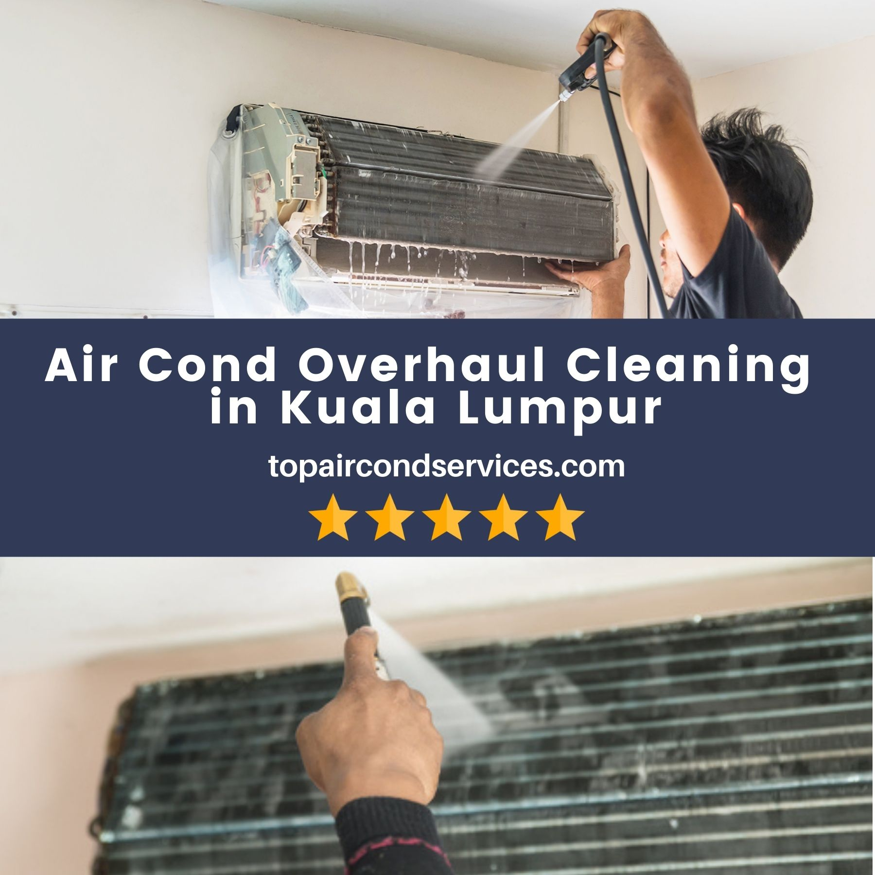 AirCond Overhaul Cleaning in KL